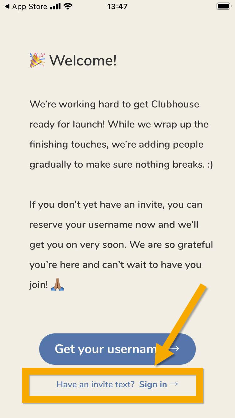 招待 され たら clubhouse